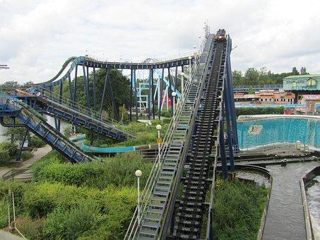 Theme Park, Roller Coaster, Rides, Amusement, Theme