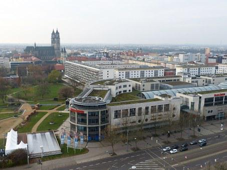 Magdeburg, Saxony-anhalt, View, Outlook, City, Old Town
