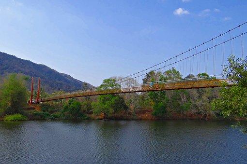 Gangavali River, Hanging Bridge, Scenic, Greenery