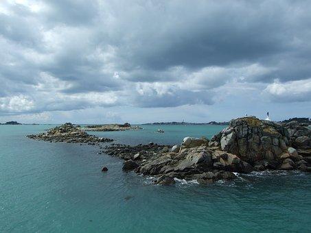 Finistère, Pointe Du Raz, Side, Rocks, Sea, Ocean