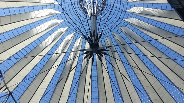 Berlin, Sony Center, Blanket, Architecture