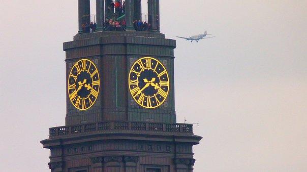 Hamburg, St Michaelis, Steeple, Clock, Michel