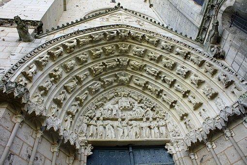 Stone Carving, Doorway, Arched Door, Church Door