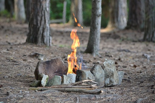 Fire, Forest, Stones, Nature, Bonfire