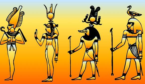 Egypt, Symbols, Orange, Flame, Colors, Sun, Ra God
