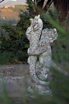 Figurine, Nature, Italy, Tuscany, Landscape, Little Boy