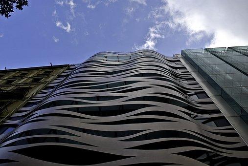 Barcelona, House, Tall, Building, Sky, Up, Spain, City
