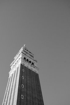 Tower, Venice, Tall, Skyscraper, Highrise, Urban