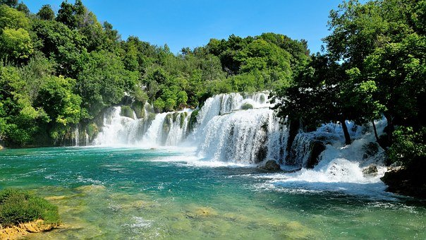 Krka, Waterfall, Croatia, Nature, Park, River, Travel