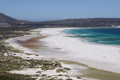 Sea, Beach, Mountains, Coast, Water, Sand, White, Shore