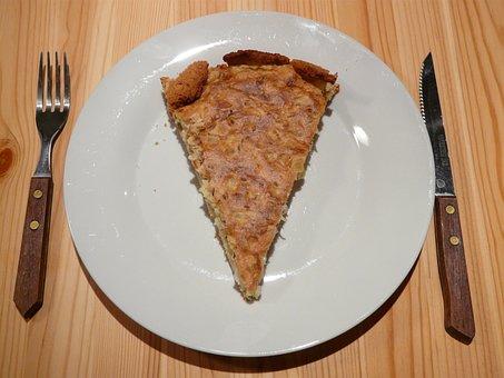 Zwiebelkuchen, Onion Cake Piece, Piece, Piece Of Cake