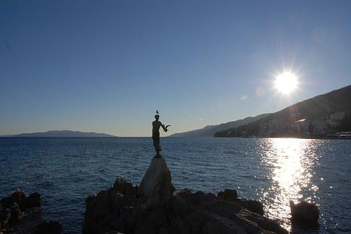 Opatija, Adriatic Sea, Virgin, Seagull, Sea