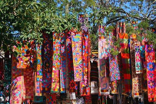 Colorful, Colorful Scarves, Color, Art, Cloth