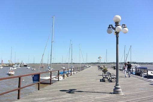 Bay, Lanterns, Since, Boats, Fishing, Summer, Heat