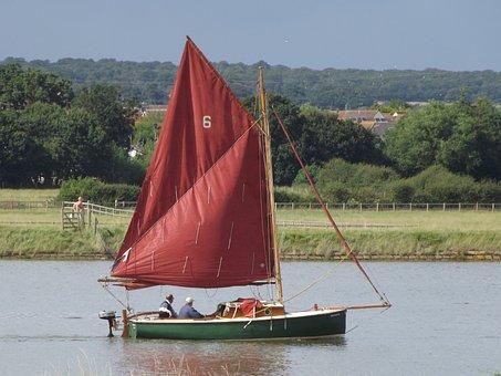 Sailing, Boat, Dingy, Essex, River