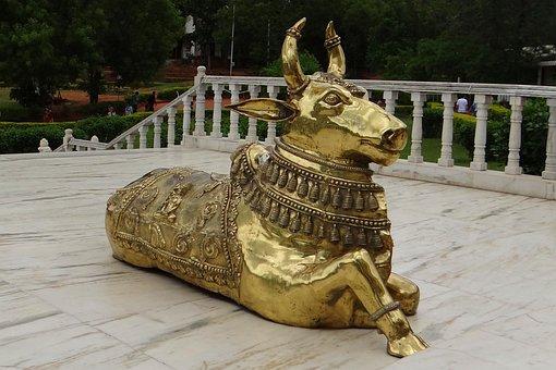 Bull, Brasswork, Nandi, Celestial Carrier, Temple