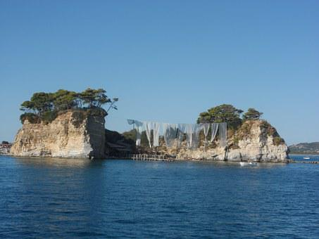 Cameo Island, Zakynthos, Greece, Lake, Great, Seaside