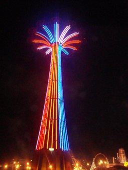 Luna Park, Coney Island, Amusement, Colorful, Light