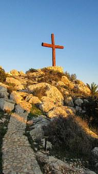 Cyprus, Ayia Napa, Ayios Epifanios, Cross, Hill