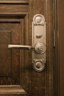 Door, Door Handle, Handle, Entrance, Lock, Wooden, Wood