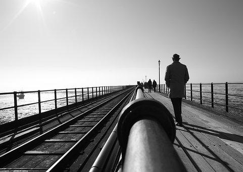 Pier, Southend, Sea, England, Essex, Coast, Sky