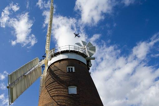 Thaxted, Essex, England, Windmill, White Sails