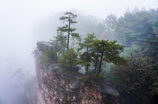 China, Zhangjiajie National Park, Fog
