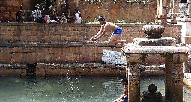 Jump, Dive, Water, Swimming, Fun, India, Mahakoot