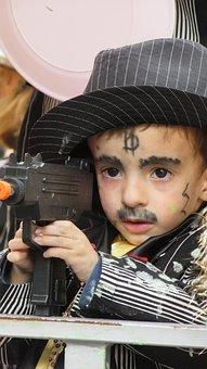 Carnival, Costume, Boy, Kid, Masquerade, Gangster