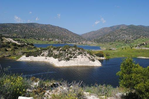 Germasoyeia Dam, Limassol, Cyprus, Water View, Lake