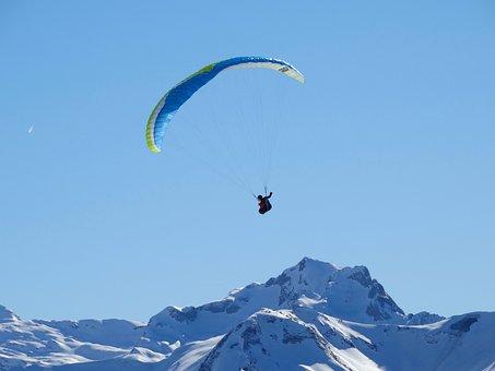 Alpine, Alpensport, Sport, Hang Gliding, Distant View