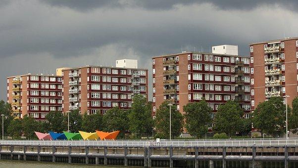 Hamburg, Row, Harbor Building