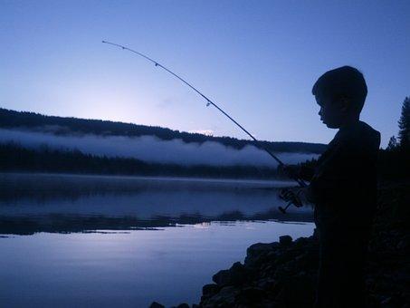 Jp, Fishing, California, Sunrise, Child, Boy, Bass Lake