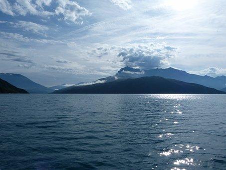 Landscapes, Nature, Lake, Morning, Sky, Mountain