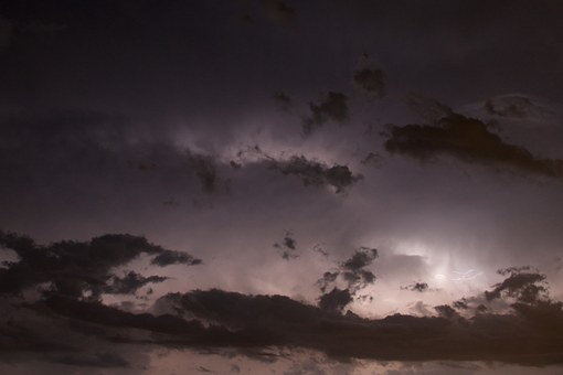 Thunderstorm, Clouds, Lightning, Night, Weather, Storm