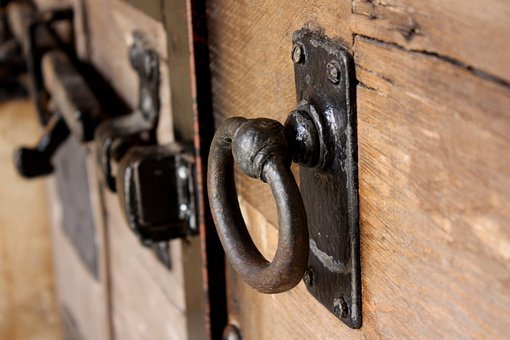 Door, Old, Wood, Lock, Gate, Building, Architecture