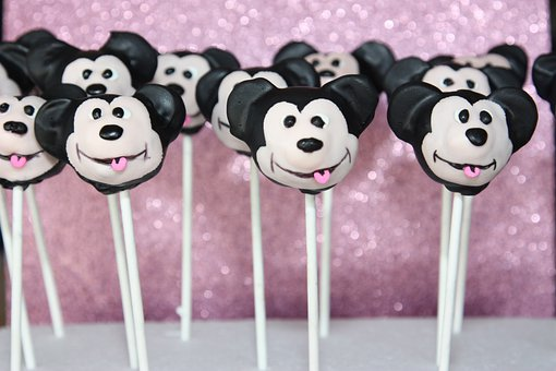 Cake Pops, Micky Mouse, Sweets, Dessert, Sticks, Treats