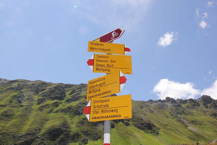 Hiking, Mountains, Directory, Alpine, Davos