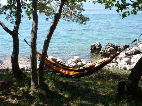 Hammock, Rest, Sea, Beach, Adriatic Sea