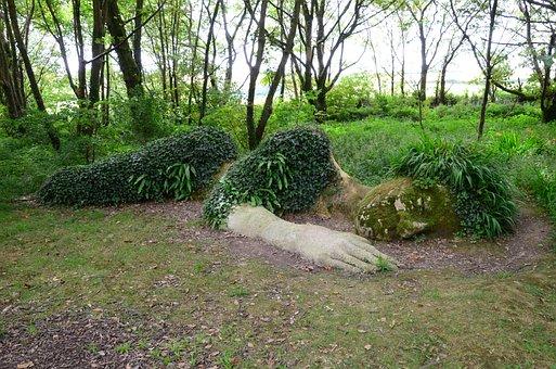 Woman, Sleep, Horticulture, Lost Garden, Heligan