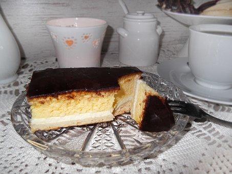 Eierschecke, Cake, Saxon, Plate, Sweet Dish, Sweet