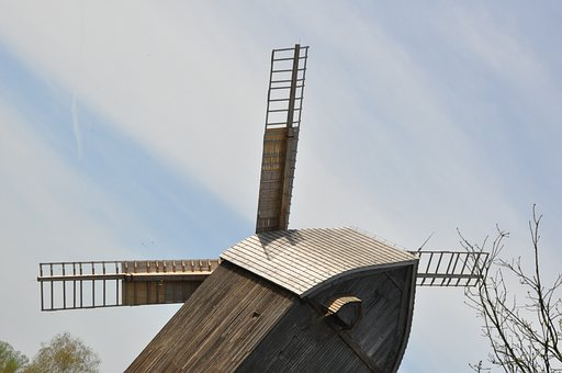 Windmill, Wing, Open Air Museum, Village, The Museum