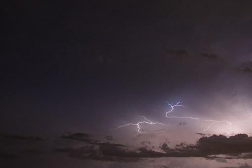 Lightning, Clouds, Night, Thunderstorm, Weather, Storm