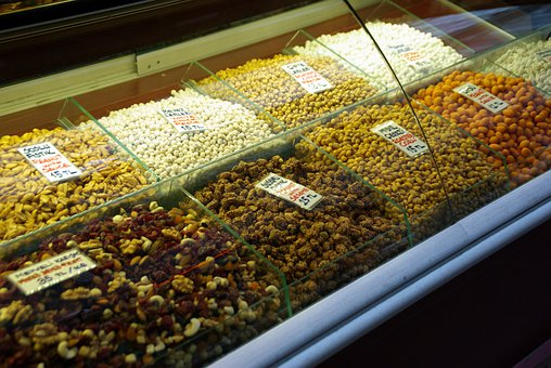 Nuts, Burnt Almonds, Candy, Turkish, Knabberzeug