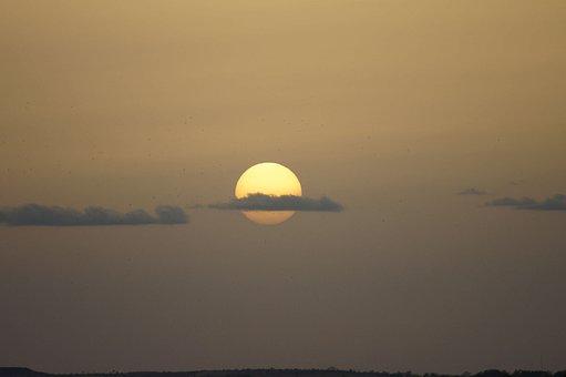 Sunset, Sun, Clouds, Birds, Nature, Sky, Twilight