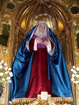 Iglesia De La Purísima, Baeza, Andalusia, Spain, Statue