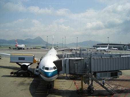 Hong Kong, Airport, Asia, Cathay Pacific, Boeing, Plane