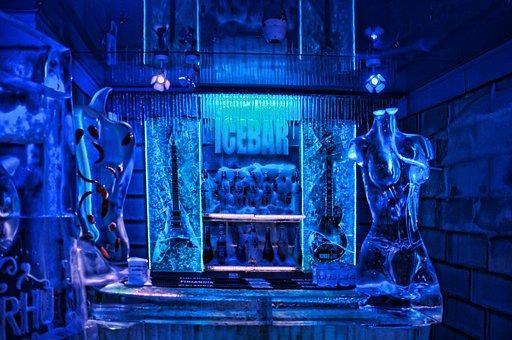 Icebar, Eisbar, Budapest, Bar From Ice, Ice, Bar, Blue