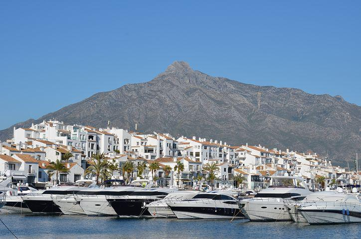 Puerto Banus, Marbella, Port, Boats, Mountain, Sierra