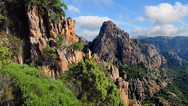 Corsica, Calanches, Rocks, Nature, Boulders, Landscape